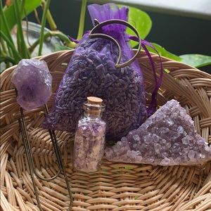 Amethyst and Lavender Purple Crystal Bundle